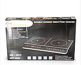 Индукционная плита DOMOTEC MS-5872 на 2 конфорки по 2000 Вт, цвет черный, фото 5
