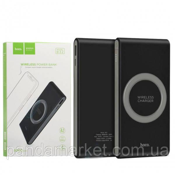 Внешние аккумуляторы (Power Bank) Hoco B32 Energetic Wireless Charging 8000mAh Оригинал Черный