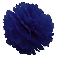Декор бумажные Помпоны 20см синий 0002