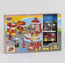 "Конструктор 3805 (12/2) ""Пожежна Станція"" 56 деталей, звук, світло, в коробці"