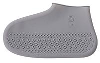 Многоразовые  бахилы для обуви от дождя, снега и грязи размер М цвет серый, фото 2