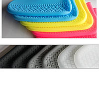 Многоразовые  бахилы для обуви от дождя, снега и грязи размер М цвет серый, фото 6
