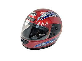 Шлем интеграл красный (размер XL)