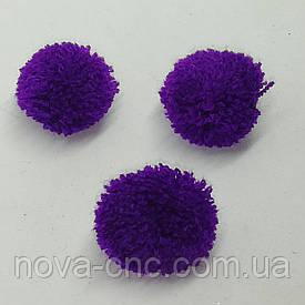 Помпони імітація хутра для творчості 25 мм Фіолетовий Упаковка 30 штук