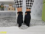 Ботинки деми на удобном каблуке с резинкой, фото 7