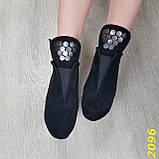Ботинки деми на удобном широком каблуке с пряжкой, фото 4
