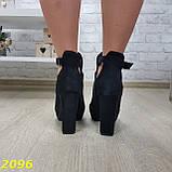 Ботинки деми на удобном широком каблуке с пряжкой, фото 5