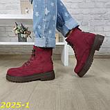 Ботинки зимние марсала бордо, фото 2