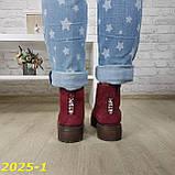 Ботинки зимние марсала бордо, фото 9