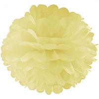 Декор бумажные Помпоны 20см шампань 0017