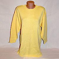 Удлиненный женский свитер - туника р.48-50 рельефная вязка, 100% хлопок, б/у