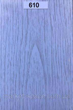 Дверь гармошка. Цвет: белое дерево №610 2030мм/1000мм/6мм, фото 2