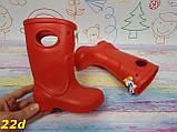 Детские резиновые сапоги непромокаемые красные, фото 2