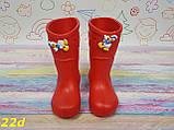 Детские резиновые сапоги непромокаемые красные, фото 4