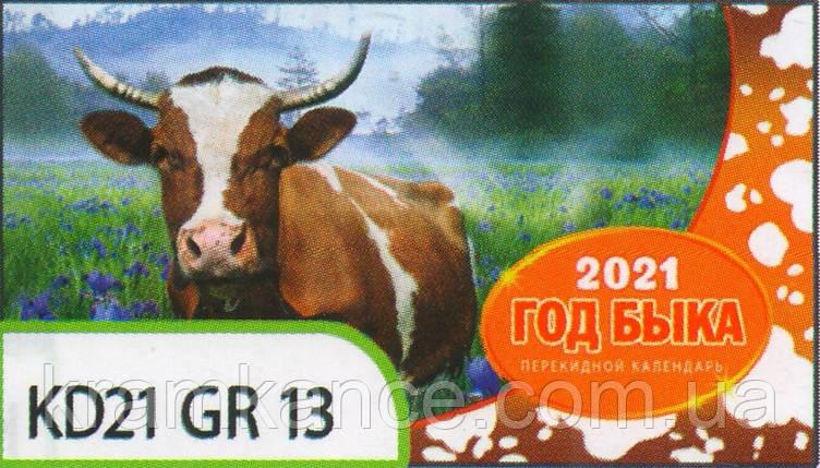 Календар формату на пружині «гірка» Kd21-Gr 13, фото 2
