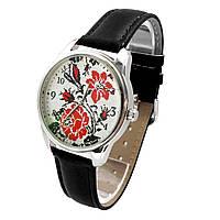 """Часы наручные """"Вишиванка роза"""" разные цвета Черный"""