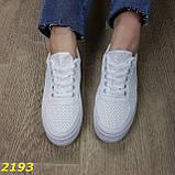 Кроссовки белые на высокой толстой платформе белые, фото 3