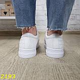 Кроссовки белые на высокой толстой платформе белые, фото 6