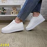 Кроссовки белые на высокой толстой платформе белые, фото 9