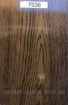 Дверь гармошкой глухая. Цвет: орех №7036 2030мм/810мм/6мм, фото 2