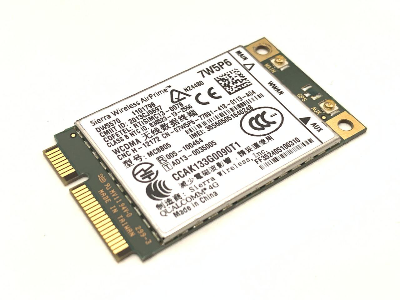 4G модем Sierra Wireless AirPrim MC8805 DW5570 QUALCOMM 4G для ноутбуков Dell / Б/У Гарантия 6 месяцев