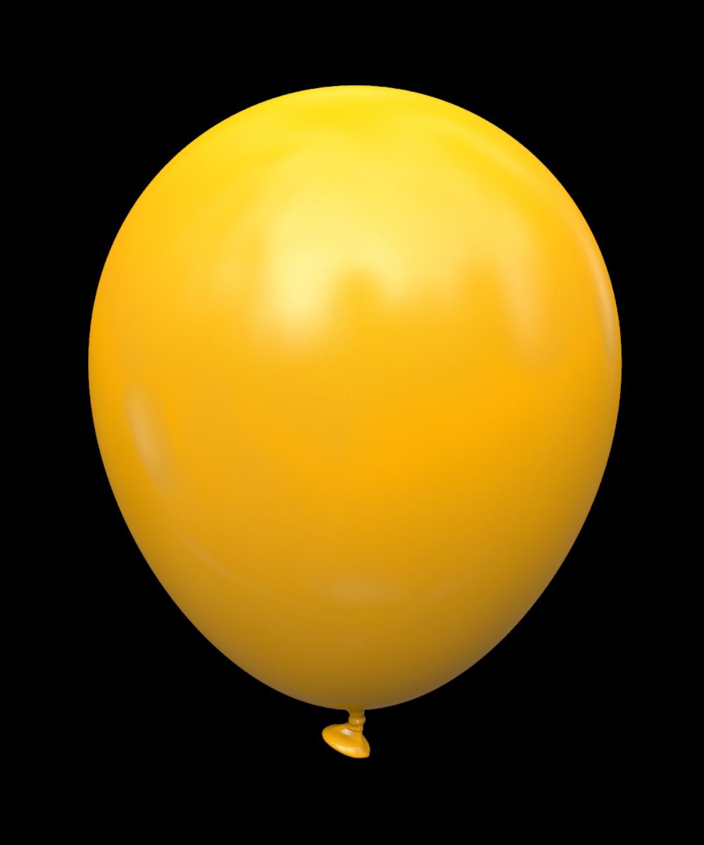 """12 STD Желтый теплый (ocher). Шары воздушные латексные пастель без рисунка 12"""" (100 шт)"""