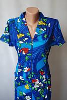 Женские летние халаты с воротником на молнии купить дёшево, фото 1
