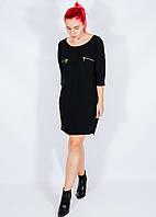 Черное платье прямого кроя Saint Tropez, размер XS, арт. 30-1210
