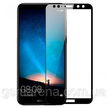 Защитное стекло 2.5D для Huawei Mate 10 Lite Черный тех. пакет, фото 2