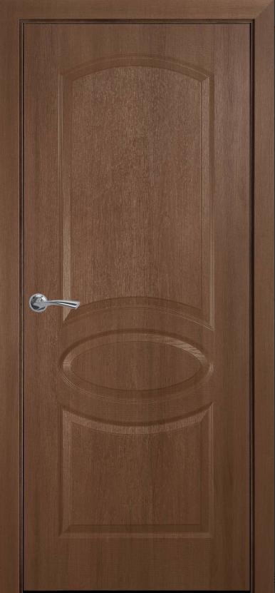 """Дверь межкомнатная глухая новый стиль Фортис """"Овал А """" 60-90 см золотая ольха"""