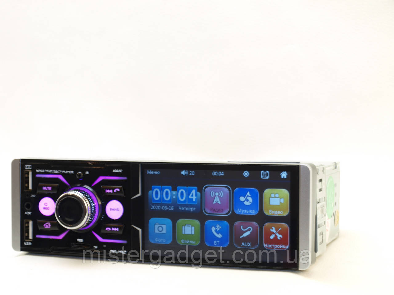 "Автомагнитола Pioneer 4063T Сенсорный Экран 4,1"" Bluetooth"