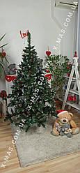 Ялинка штучна Різдвяна (Елітна) червона калина+шишки 1,50 м Зелена з білими кінчиками