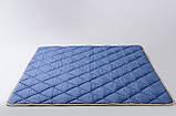 Ковдра з вовни мериносів синя у смужку 180х200, фото 2