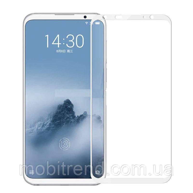 Защитное стекло 2.5D для Meizu 16 Plus (0.3mm, 2.5D, с олеофобным покрытием) Белый