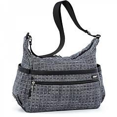 Женская модная сумка с плечевым ремнем вместительная серая Dolly 649