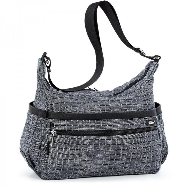 Жіноча модна сумка з плечовим ременем містка сіра Dolly 649