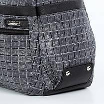 Жіноча модна сумка з плечовим ременем містка сіра Dolly 649, фото 2