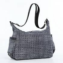 Жіноча модна сумка з плечовим ременем містка сіра Dolly 649, фото 3