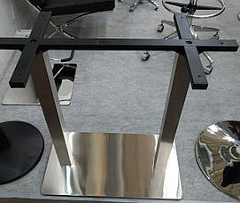 Основание для прямоугольного стола двойное E-25 inox double cross, фото 2