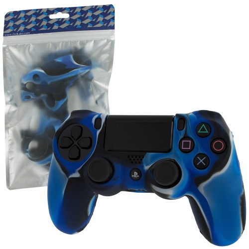 Силіконовий чохол для геймпадів DualShock 4 (Blue Camo)