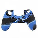 Силіконовий чохол для геймпадів DualShock 4 (Blue Camo), фото 2