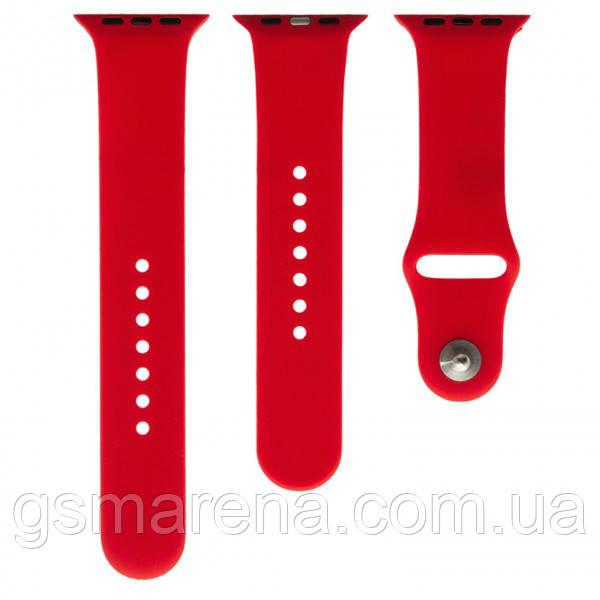 Ремешок для Apple Watch Band Silicone Two-Piece 42mm 06, Красный