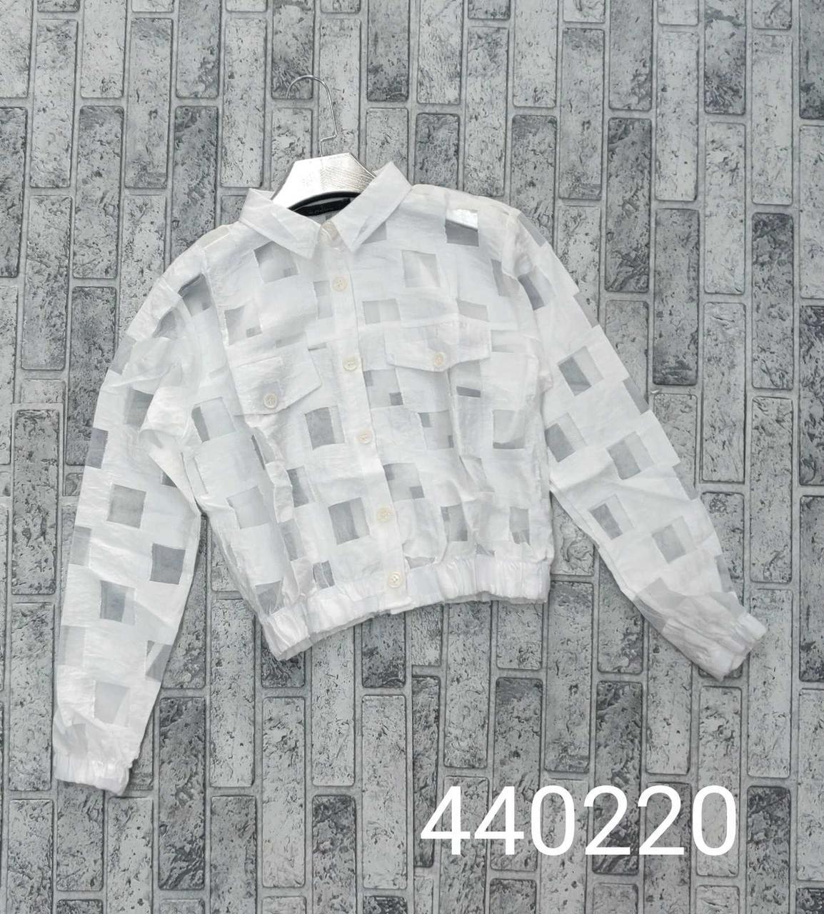 Короткая женская белая рубашка модная (42-46)