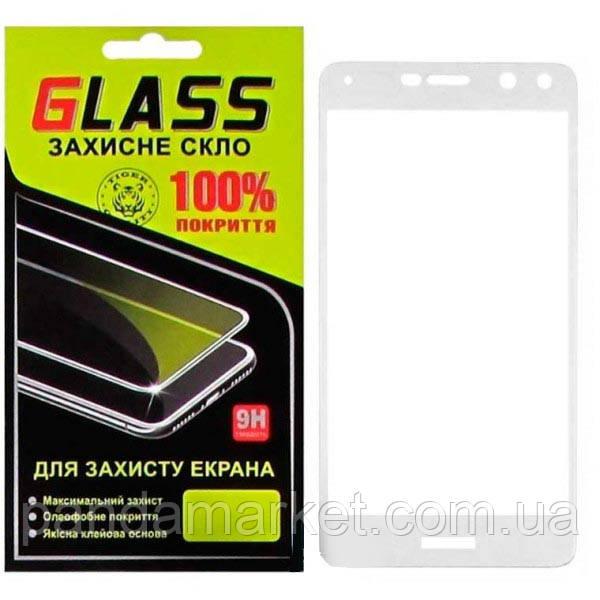 Защитное стекло 2.5D для Huawei Y5 (2017), Y6 (2017) Белый Glass