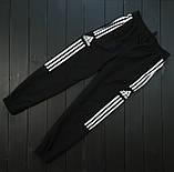 Мужской весенний костюм Adidas (black/white), спортивный костюм Адидас (Реплика ААА), фото 3