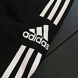 Мужской весенний костюм Adidas (black/white), спортивный костюм Адидас (Реплика ААА), фото 5