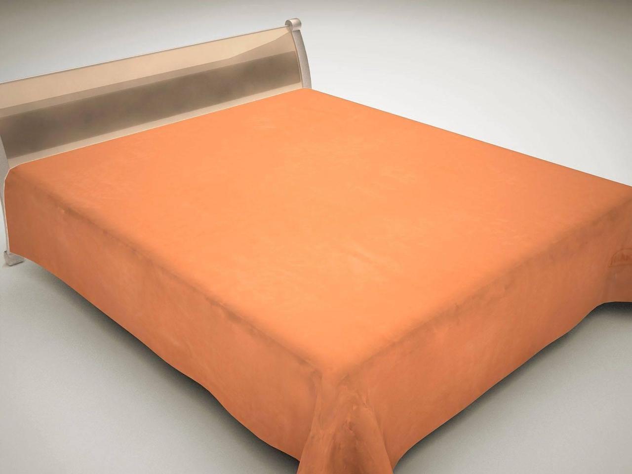 Плед акриловый двухспальный Однотон (Solaron)