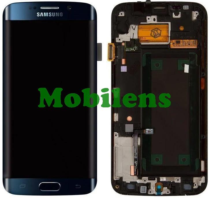 Samsung G925, G925F, Galaxy S6 Edge Дисплей+тачскрин(модуль) темно-синий *в рамке Original (AMOLED)