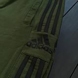 Мужской весенний костюм Adidas (khaki/black), спортивный костюм Адидас (Реплика ААА), фото 6