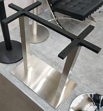 Основание для прямоугольного стола двойное E-25 inox double cross, фото 3